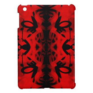 Red and black kaleidoscope graffiti iPad mini case