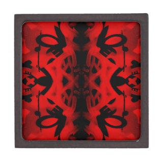 Red and black kaleidoscope graffiti jewelry box