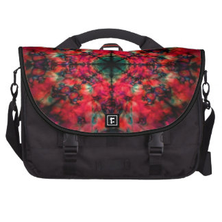 Red and black kaleidoscope pattern commuter bag