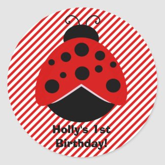 Red and Black Lady Bug Stickers