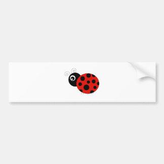 Red and Black Ladybug Car Bumper Sticker