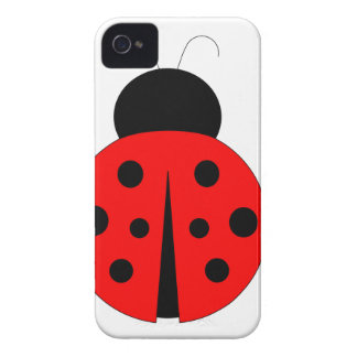 Red and Black Ladybug iPhone 4 Case