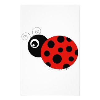 Red and Black Ladybug Stationery