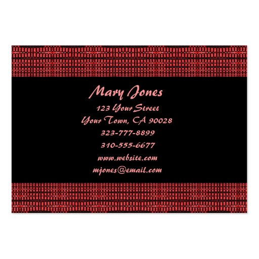 red and black large business card