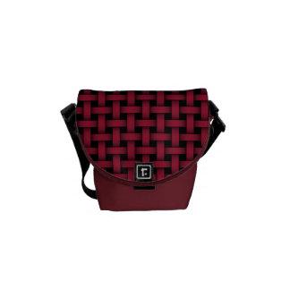 Red and Black Lattice - Mini Messenger Bag Outside