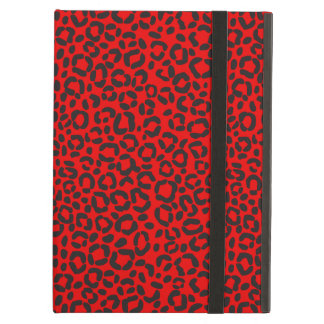 Red and Black Leopard Print iPad Air Cover