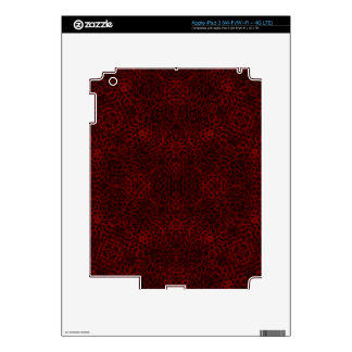 Red and Black Leopard Print Decal For iPad 3