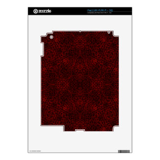 Red and Black Leopard Print Skins For iPad 2