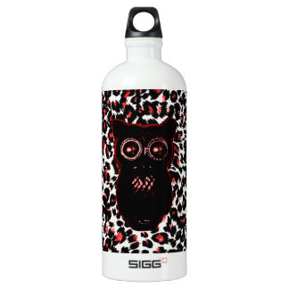 Red and Black Leopard Spots With Owl SIGG Traveler 1.0L Water Bottle