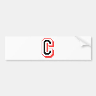 red and black letter C Bumper Sticker
