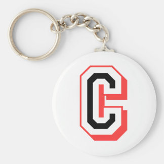 red and black letter C Keychain