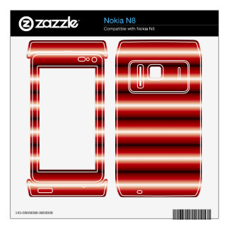 red and black line Pattern Decal For The Nokia N8
