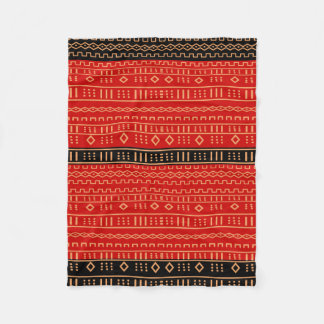 Red and Black Modern Mudcloth Blanket
