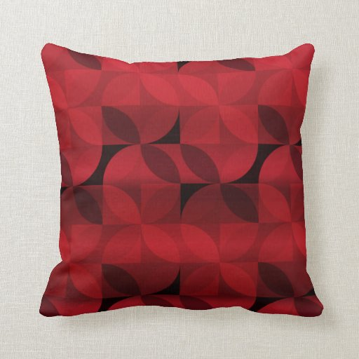 Red and Black Modern Pattern Pillow Zazzle
