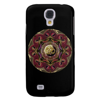 Red and Black Moon Mandala Samsung S4 Case