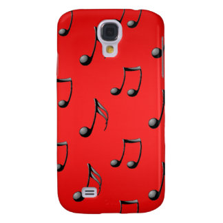 Red and Black Music Notes Pattern iPhone3 Case
