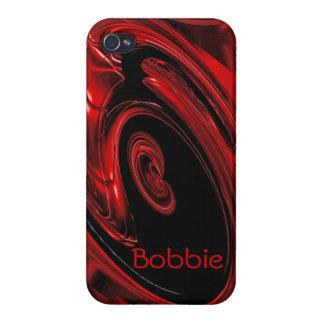 "Red and Black ""Nebula"" Pop Art iPhone 5 case"