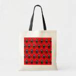 Red and Black Ninja Bunny Pattern Bags