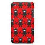 Red and Black Ninja Bunny Pattern iPod Case-Mate Case