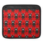 Red and Black Ninja Bunny Pattern iPad Sleeve