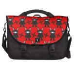 Red and Black Ninja Bunny Pattern Laptop Bag