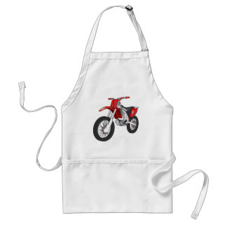 Red and Black Off-Road/Enduro Motorcycle Adult Apron