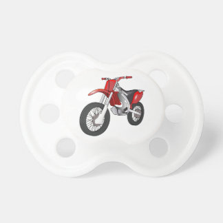 Red and Black Off-Road/Enduro Motorcycle Pacifier