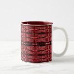 red and black ovals coffee mug