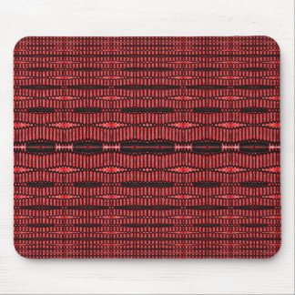 red and black ovals mouse pad