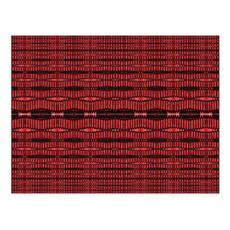 red and black ovals postcard