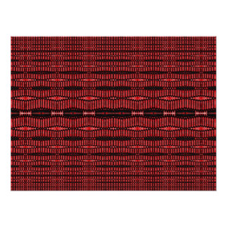 red and black ovals poster
