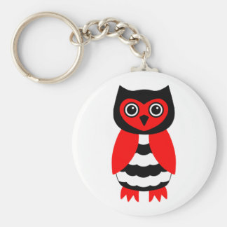 Red and Black Owl Keychain