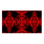 Red and Black Pattern Business Cards