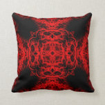 Red and Black Pattern Pillows