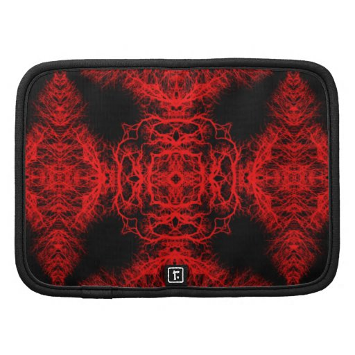 Red and Black Pattern Folio Planners