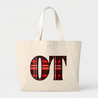 Red and Black Plaid Jumbo Tote Bag