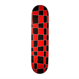 Red and black Plaid customizable Skateboard