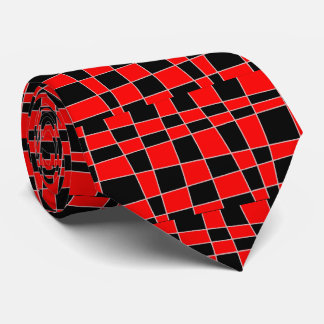 Red and black Plaid customizable Tie