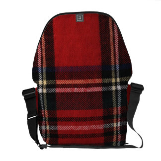 Red and Black Plaid Messenger Bag