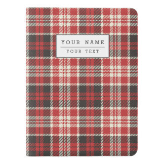 Red and Black Plaid Pattern Extra Large Moleskine Notebook
