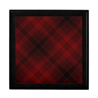Red and Black Plaid Pattern Keepsake Box