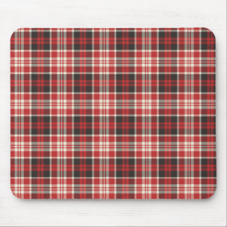 Red and Black Plaid Pattern Mouse Pad