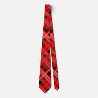 Red and Black Plaid Tie