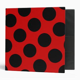 Red and Black Polka Dot Avery Binder