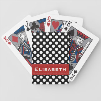 Red and Black Polka Dot Bicycle® Playing Cards