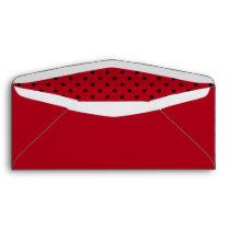 Red and Black Polka Dot Envelope