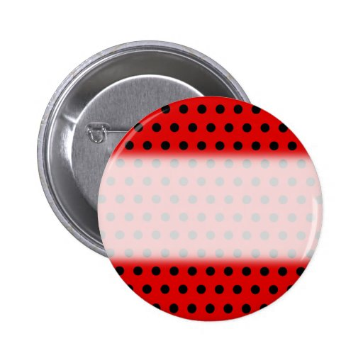 Red and Black Polka Dot Pattern. Spotty. Pins