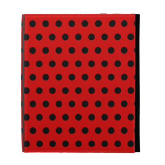 Red and Black Polka Dot Pattern. Spotty. iPad Cases