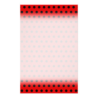 Red and Black Polka Dot Pattern. Spotty. Flyer