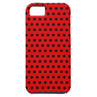 Red and Black Polka Dot Pattern. Spotty. iPhone SE/5/5s Case